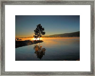 Witness To The Dawn II Framed Print by Steven Ainsworth