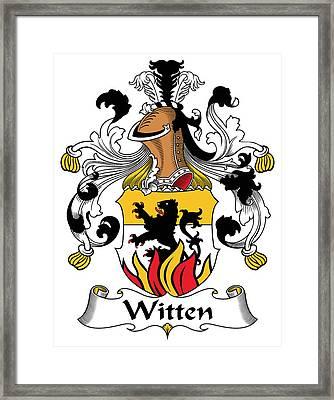 Witten Coat Of Arms German Framed Print