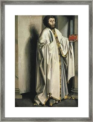 Witz, Konrad 1400-1445. Saint Framed Print by Everett