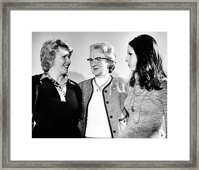 Wives Of Schrieffer Framed Print by Emilio Segre Visual Archives/american Institute Of Physics