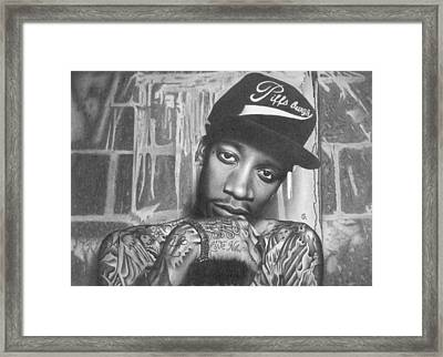 Wiz Khalifa Framed Print by George Sotirchos