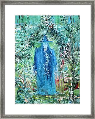 Wizard In The Garden Framed Print