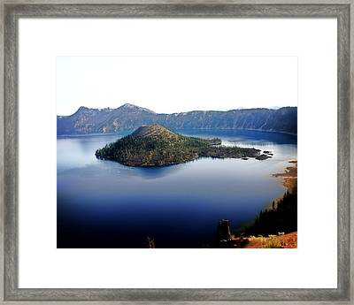 Wizard Island 1 Framed Print by Marty Koch