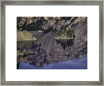 Wizard Island At Crater Lake Framed Print