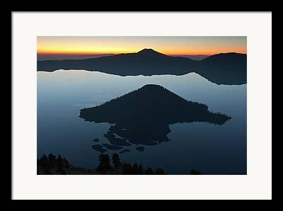 Mount Mazama Framed Prints
