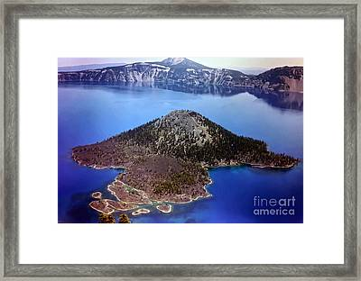 Wizard Island Framed Print by Steven Valkenberg