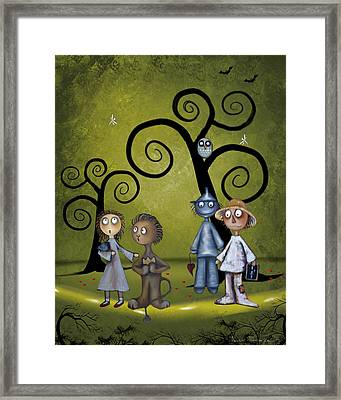 Wizard Of Oz Haunted Forest Framed Print
