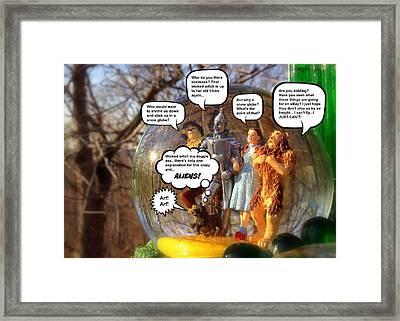 Wizard Of Oz Humor IIi Framed Print