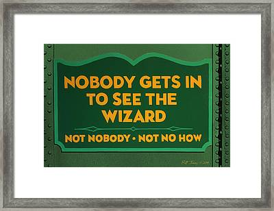 Wizard Sign Framed Print by Bill Jonas