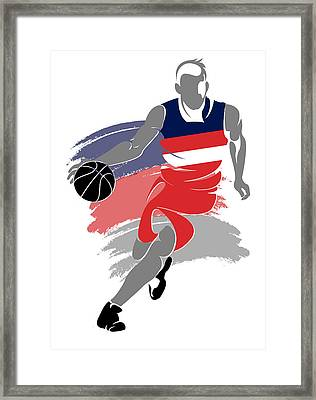 Wizards Basketball Player5 Framed Print