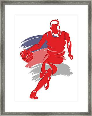 Wizards Basketball Player6 Framed Print