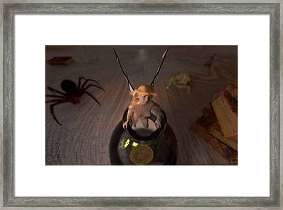 Wizard's Desk Escape Framed Print by Brainwave Pictures