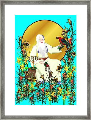 Framed Print featuring the digital art Wizard's Garden by Mary Anne Ritchie