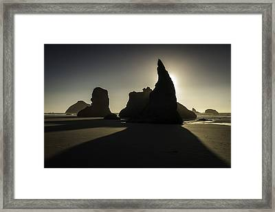 Wizards Hat Bandon Beach Framed Print by Jean-Jacques Thebault