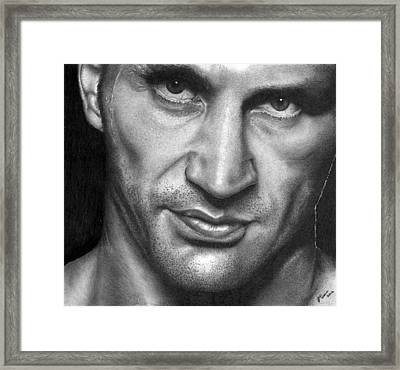 Wladimir Klitschko. Framed Print