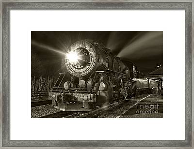 Wmsr Engine 734 At The Frostburg Depot Framed Print