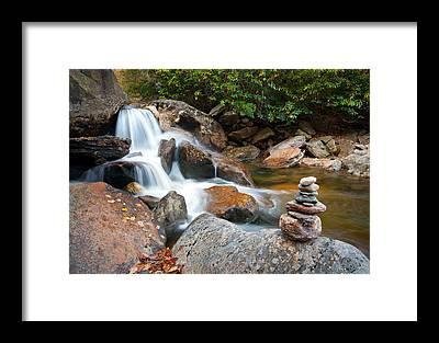 Blue Ridge Parkway Waterfalls Framed Prints