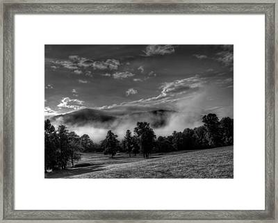 Wnc Morning In Black And White Framed Print