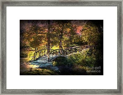 Woddard Park Bridge II Framed Print by Tamyra Ayles