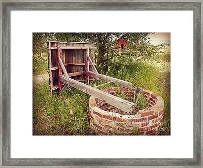 Woeful Well Framed Print