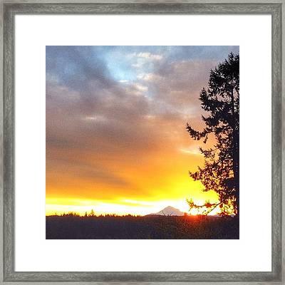 Woke Up To The Most Beautiful Sunrise Framed Print