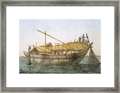 Wolack, River Craft For Transport Framed Print