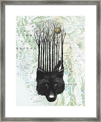 Wolf Barcode Framed Print by Sassan Filsoof