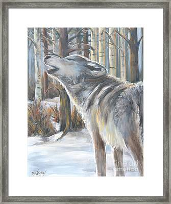 Wolf Framed Print by Cher Devereaux