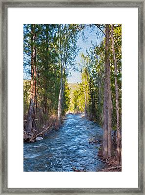 Wolf Creek Flowing Downstream  Framed Print by Omaste Witkowski