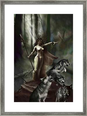 Wolf Druid Framed Print by Matt Kedzierski