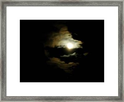 Wolf Eating The Moon I Framed Print