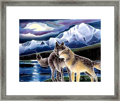Wolf Greeting Framed Print by Harriet Peck Taylor