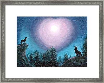Wolf Heart Song Framed Print