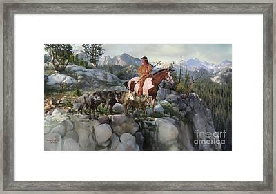 Wolf Maiden Framed Print