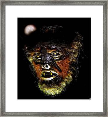 Wolf Man Original Work One Framed Print by David Lee Thompson