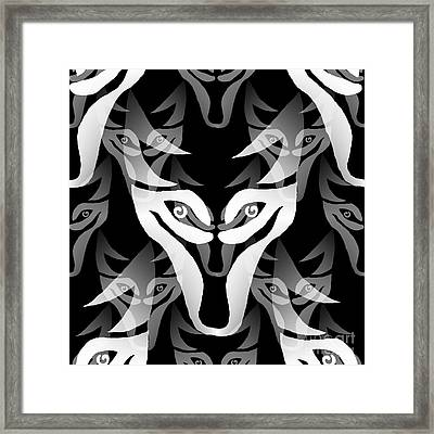 Wolf Mask Framed Print