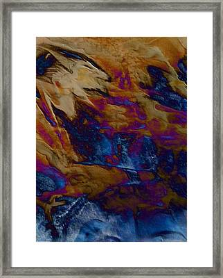 Framed Print featuring the painting Wolf by Mike Breau