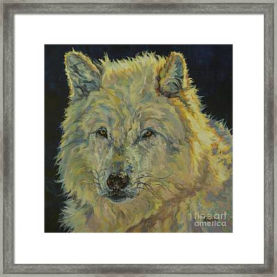 Wolf Moon Framed Print by Patricia A Griffin