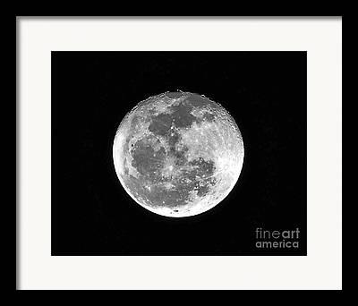 January Full Moon Framed Prints