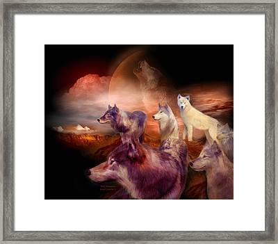 Wolf Mountain Framed Print by Carol Cavalaris