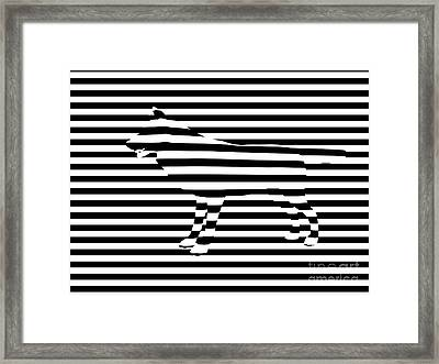 Wolf Optical Illusion Framed Print