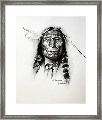 Wolf Robe - Cheyenne Framed Print by Synnove Pettersen
