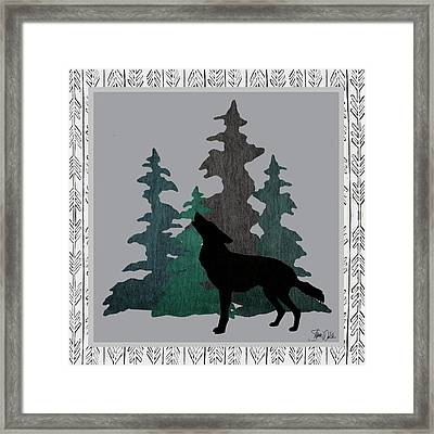 Wolf Framed Print by Shanni Welsh
