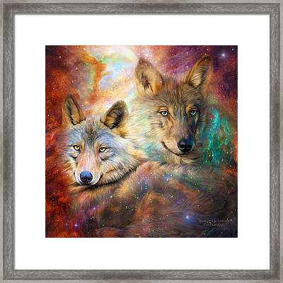 Wolf - Spirit Of The Universe Framed Print