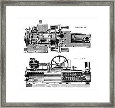 Wolf Steam Engine Framed Print