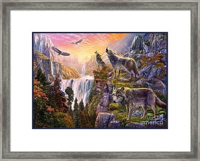 Wolf Sun Framed Print