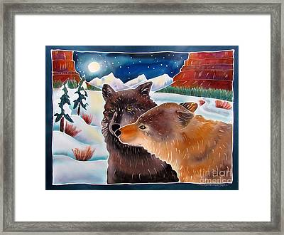 Wolf Talk Framed Print by Harriet Peck Taylor