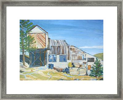 Wolf Tongue Mine Mill Framed Print by Al Hart
