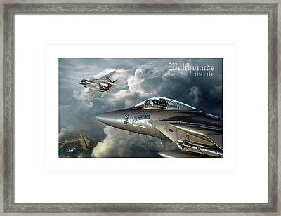 Wolfhounds Framed Print by Peter Van Stigt