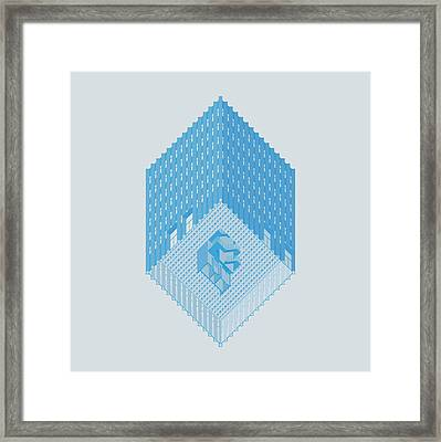 Wolfson Axonometric Framed Print by Peter Cassidy